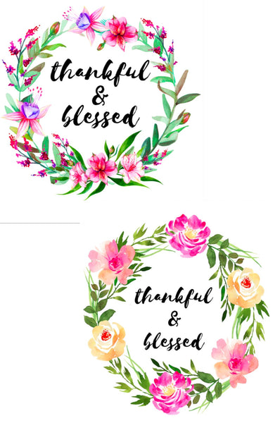 Thankful and Blessed Wall Art Set