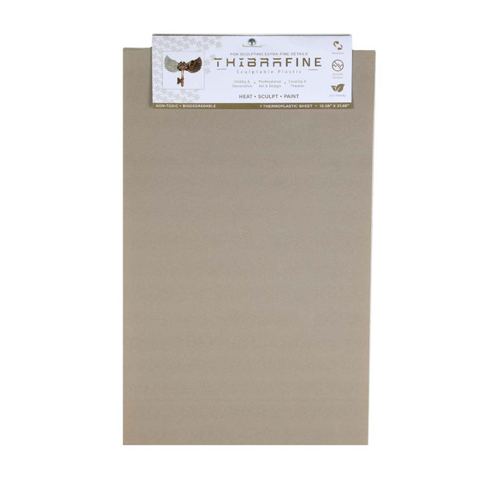 Thibra Fine - Biodegradable Thermoplastic Sheet (1/8 Sheet - 13.4