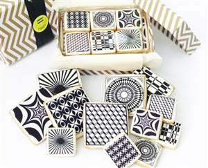 Black & White Print Cookies Gift Box - ModernBiteLA