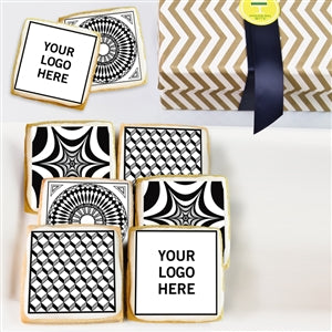 Logo Cookie Black & White Gift Box - ModernBiteLA