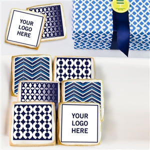 Logo Cookie Navy Gift Box - ModernBiteLA
