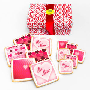 Square Valentine's Day Cookie - ModernBiteLA