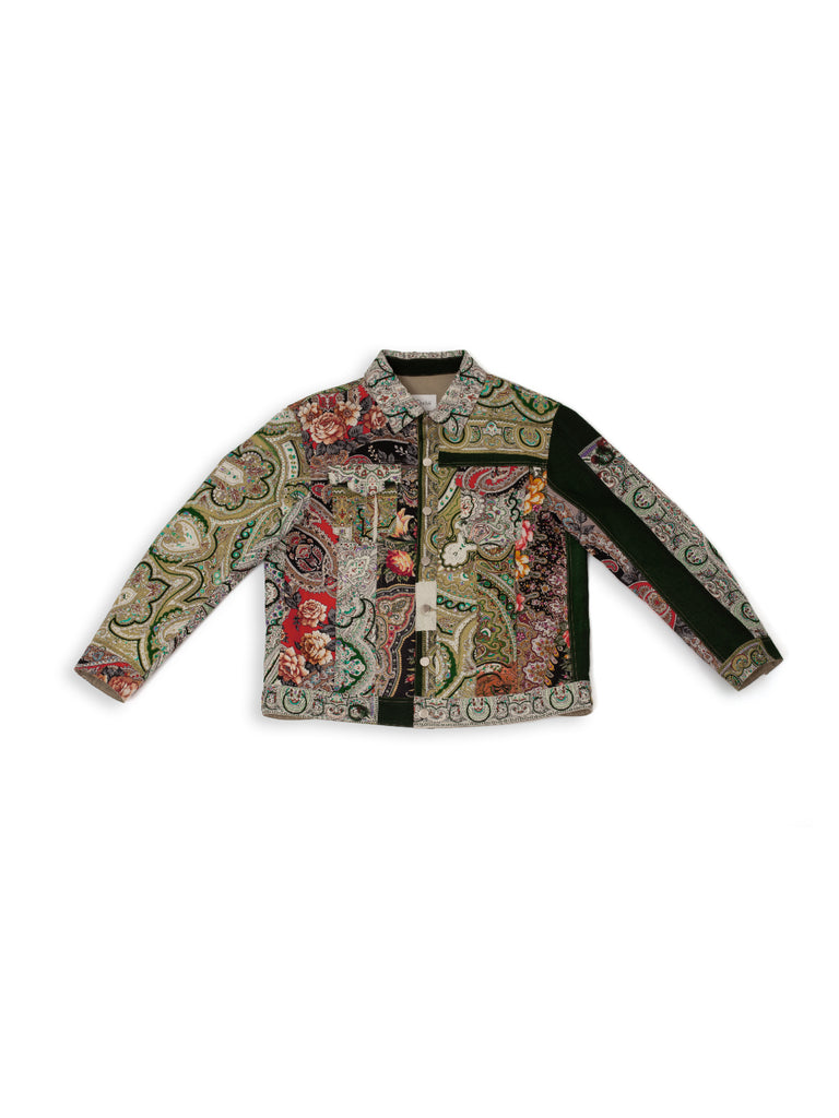 Patchwork Jacket - Forest