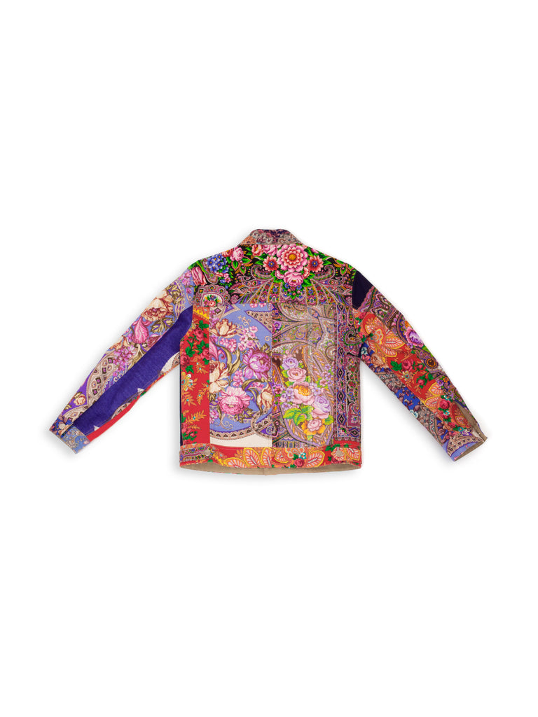 Patchwork Jacket - Lilac