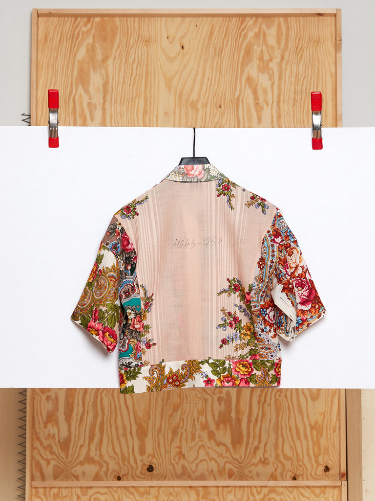 Cropped Shirt in Reclaimed Shawl (Size 3)