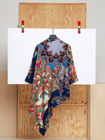 Draped Tunic in Reclaimed Shawl (Size 3)