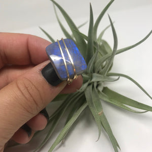 Wrapped Stone Ring