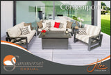 Jolee Sofa, Loveseat, Club Chair, Fire table & 2 End Tables
