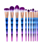 Set de 10 Pinceaux Make Up Crystal - Teint et Yeux
