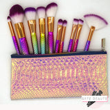 Trousse Sirène vide - Set 10 pinceaux Make Up