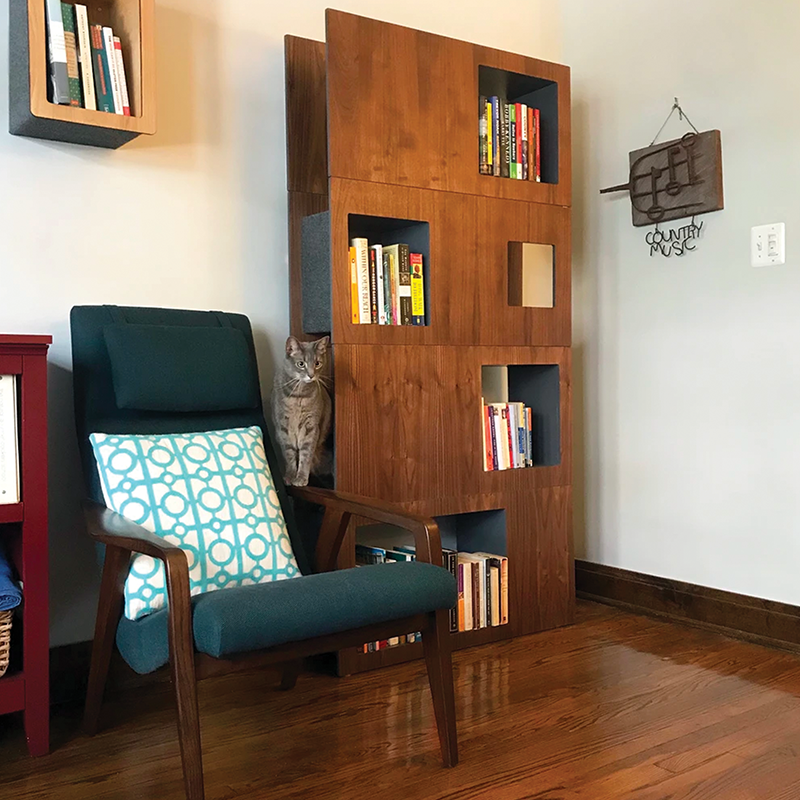 Cat Case - Modern Cat Tower and Bookcase - Cat Matter