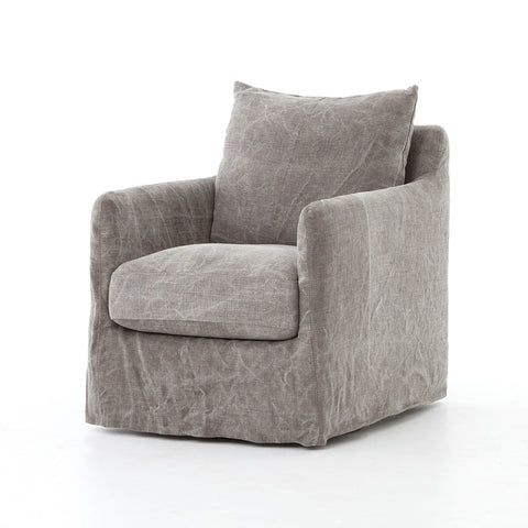 Banks Swivel Chair in Stonewashed Jute