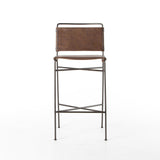 Wharton Bar Chair - Distressed Brown by Four Hands