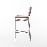 Four Hands Wharton Bar Chair - Distressed Brown