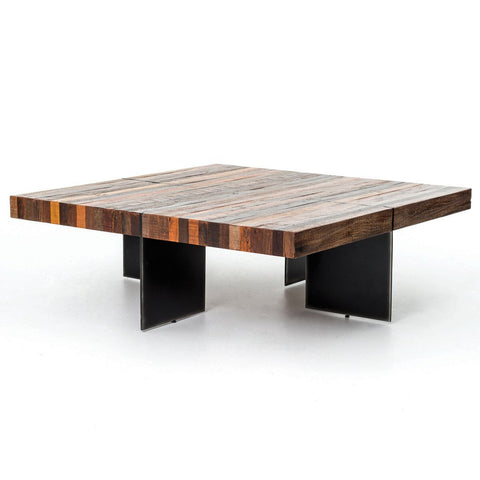 Shagreen Shadow Box Coffee Table - Stainless Steel