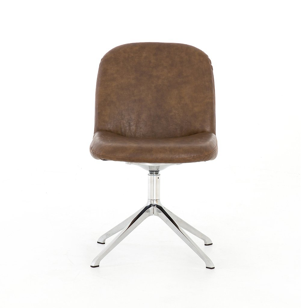 mid century leather desk chair