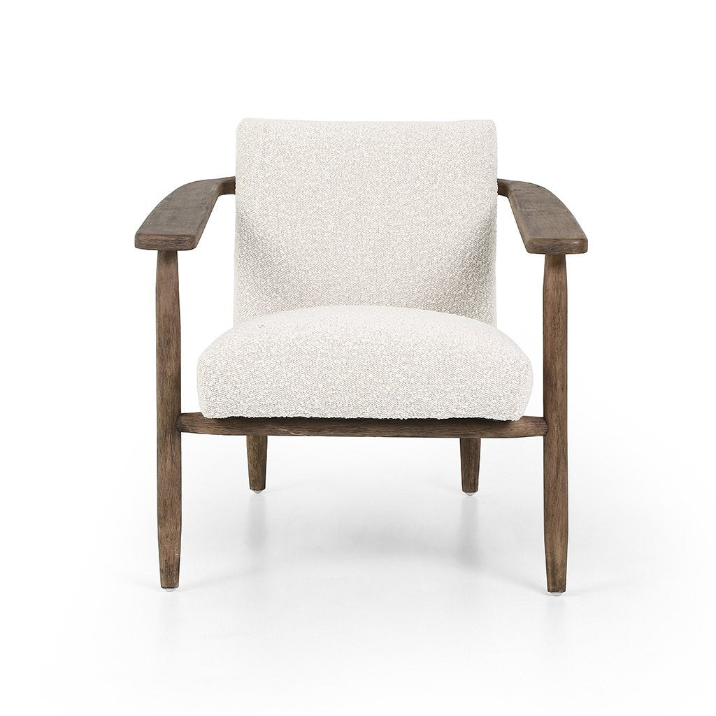 Four Hands Arnett Chair Cream Boucle Knoll Natural