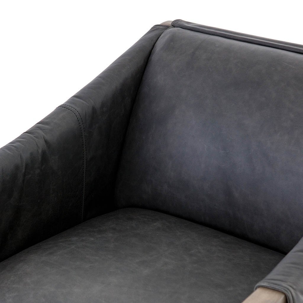 Contemporary Black Leather Chair living room furniture