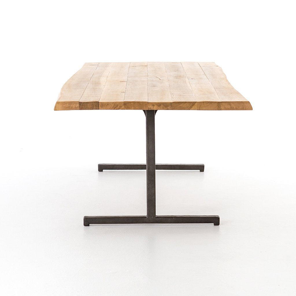 Booker Dining Table Live Edge Dining Table