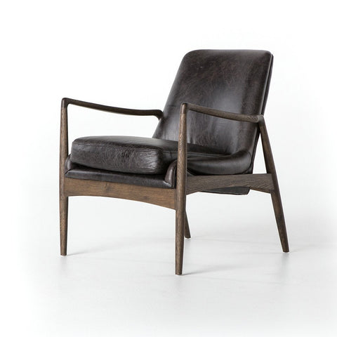 Laurent Accent Chair - Dark Brown Leather