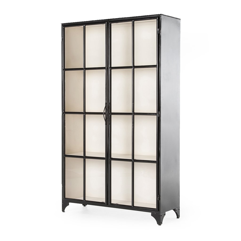 Camila Black and White Glass cabinet