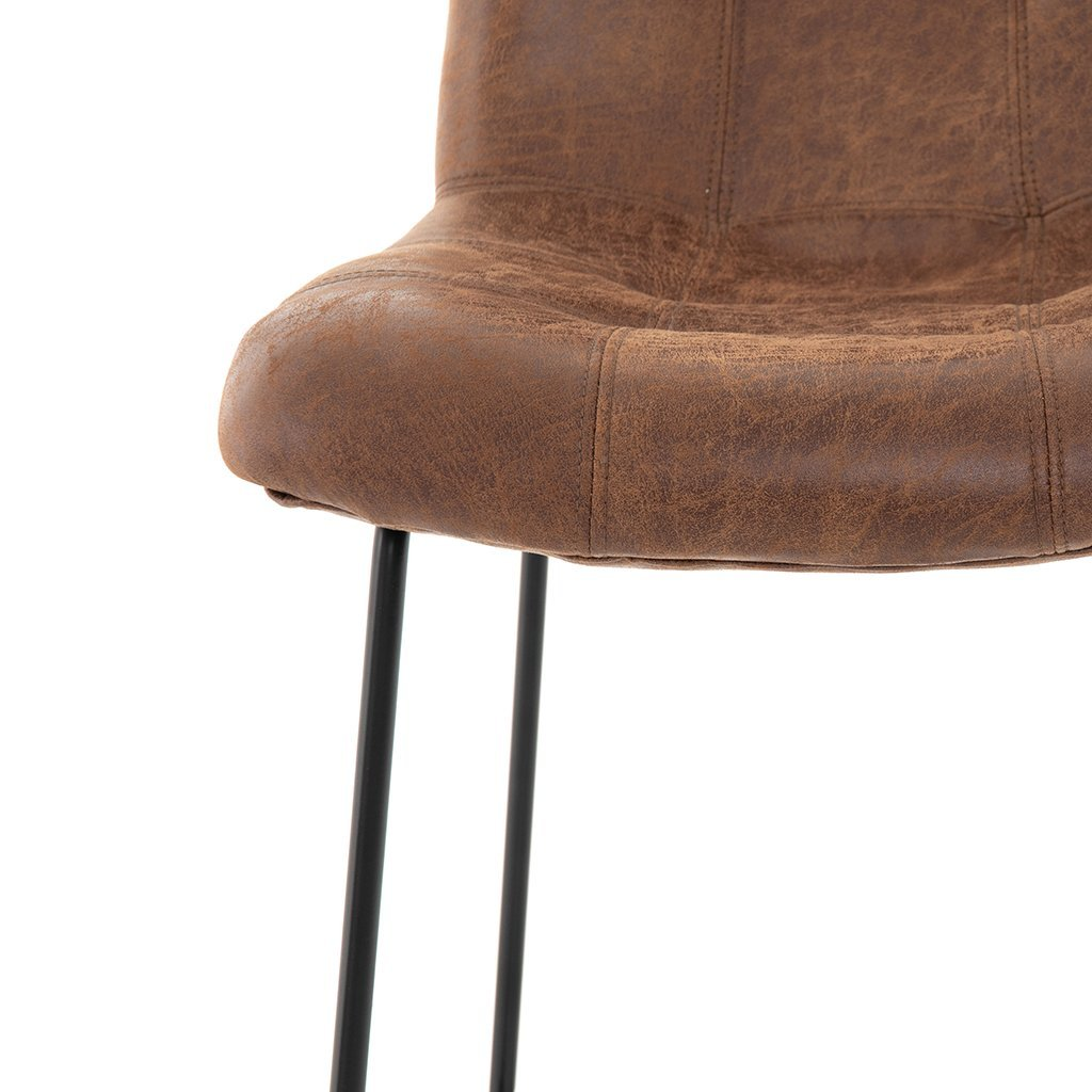 Camile Stool in Vintage Tobacco by Four hands furniture