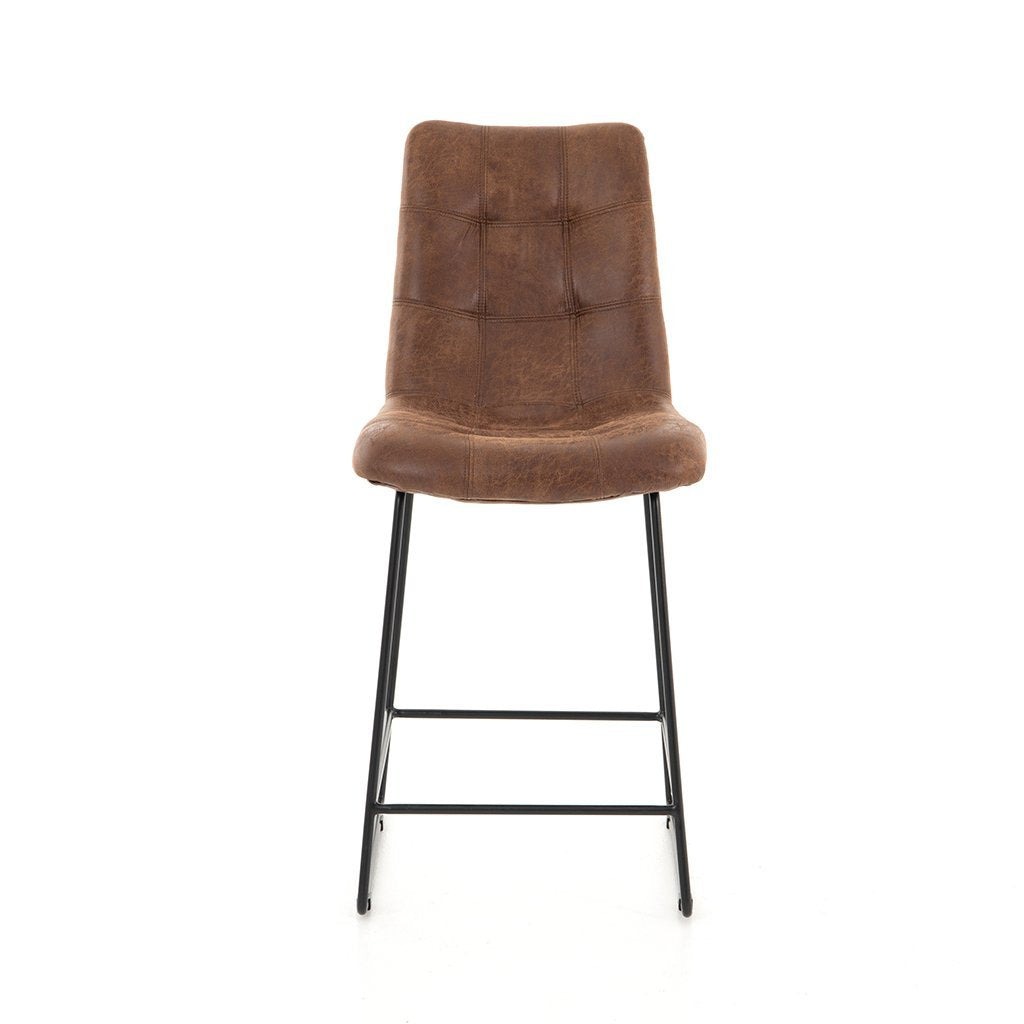 faux leather stool camile four hands