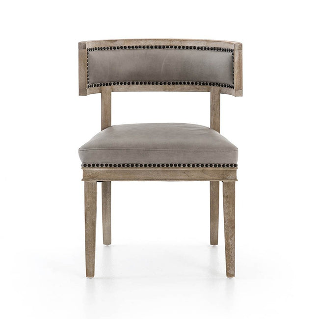 Four Hands Carter Dining Chair - Light Grey Leather