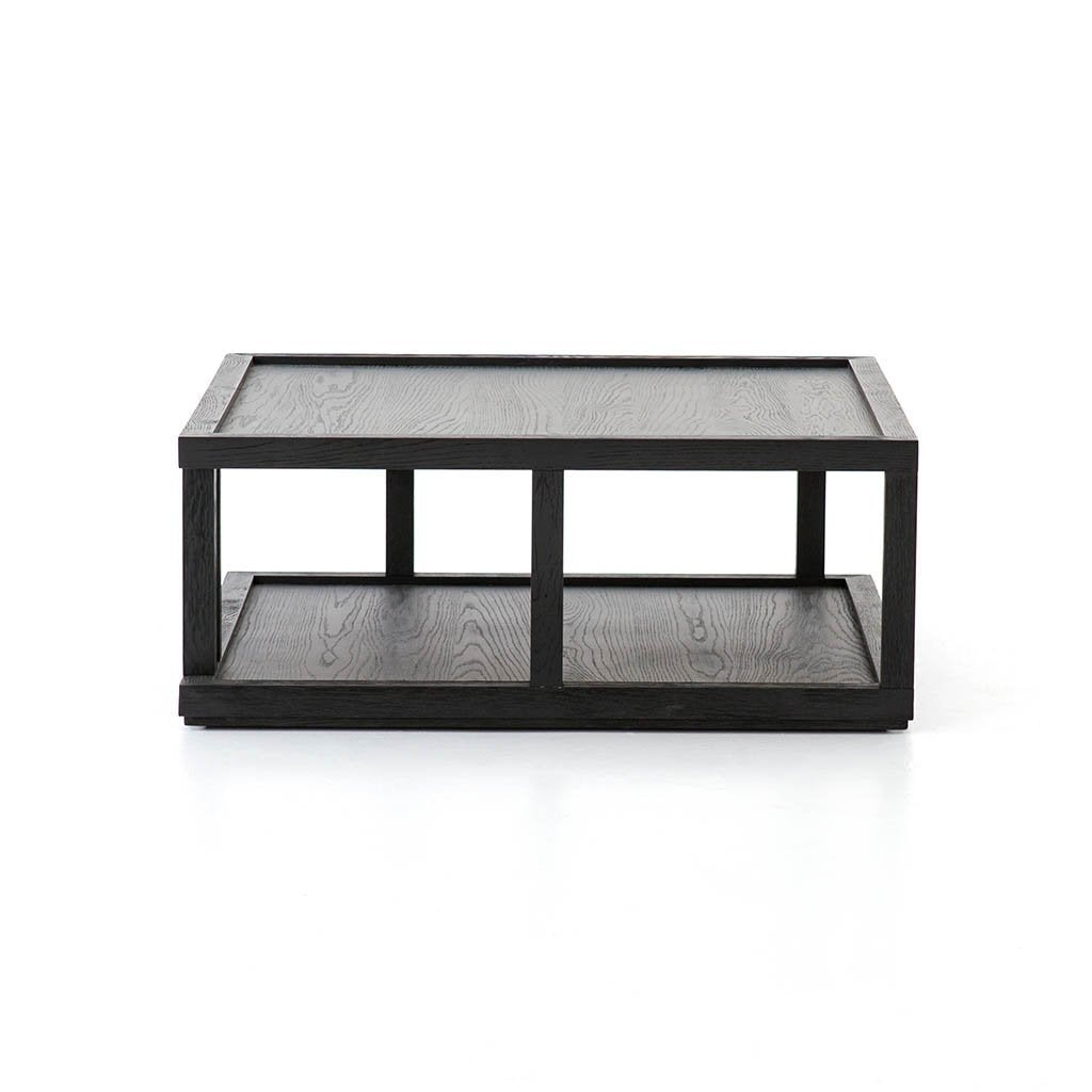geometric square coffee table black