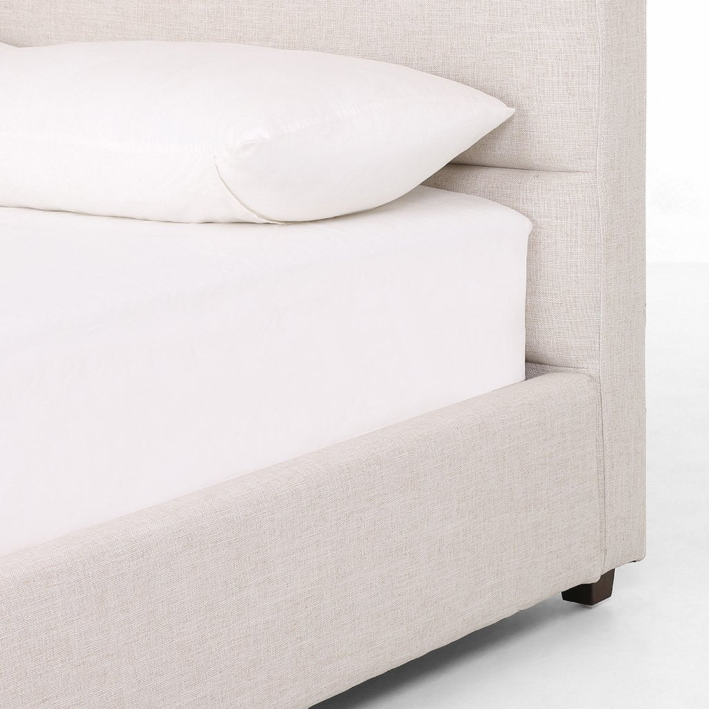 Daphne Upholstered Bed Ivory Four Hands