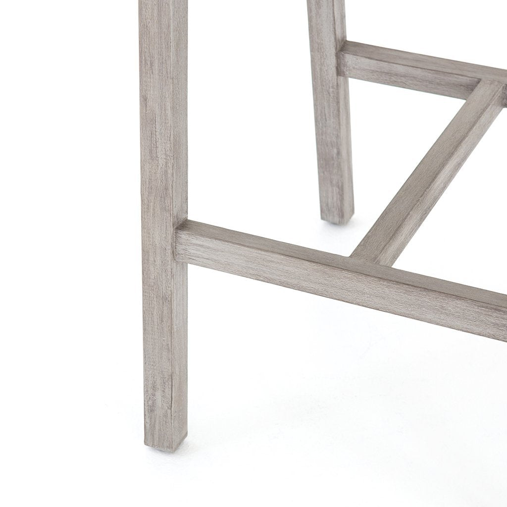 grey outdoor stool hardwood