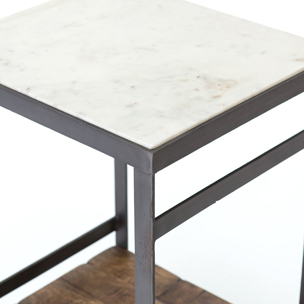 Elliott Nightstand White Marble