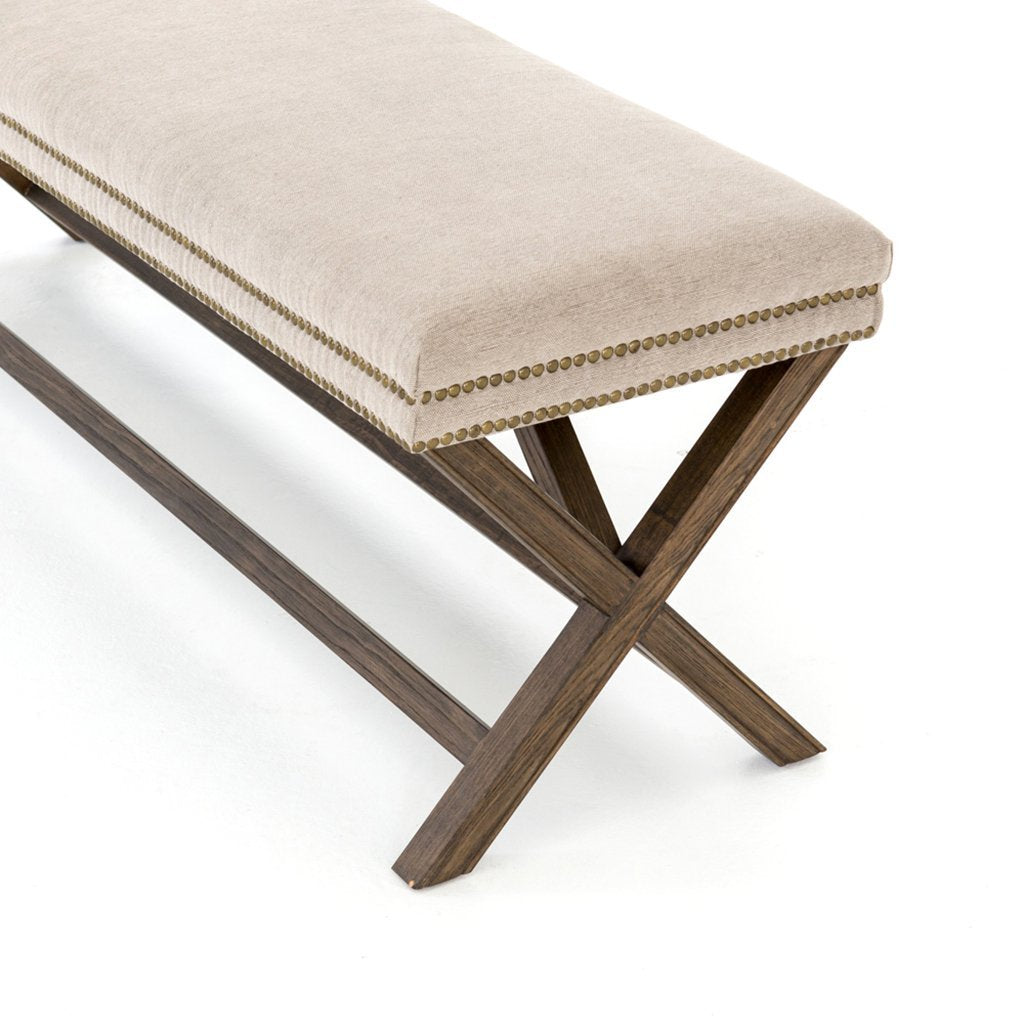 Elyse Accent Bench - Heather Twill Stone CASH-74J-426