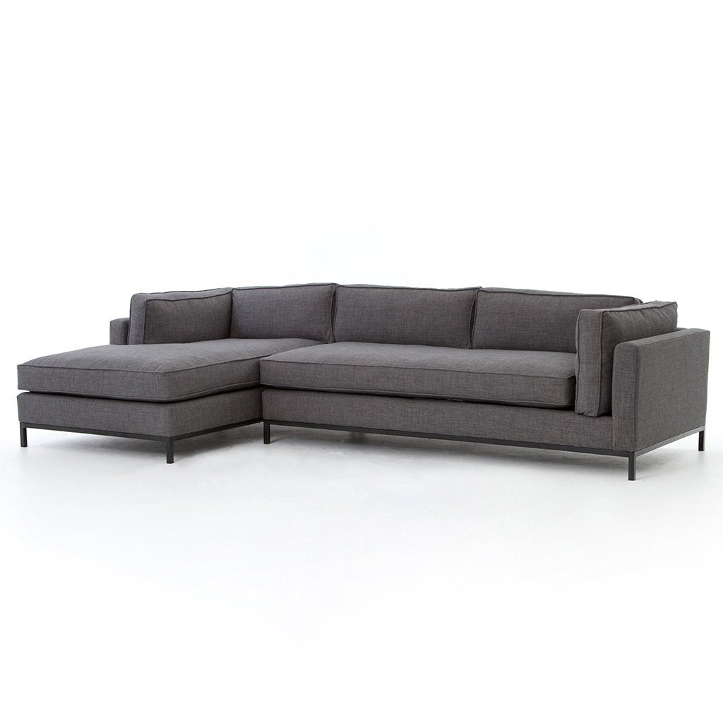 Grammercy Sectional Sofa - Bennett Charcoal UATR-001-BCH Four Hands Furniture