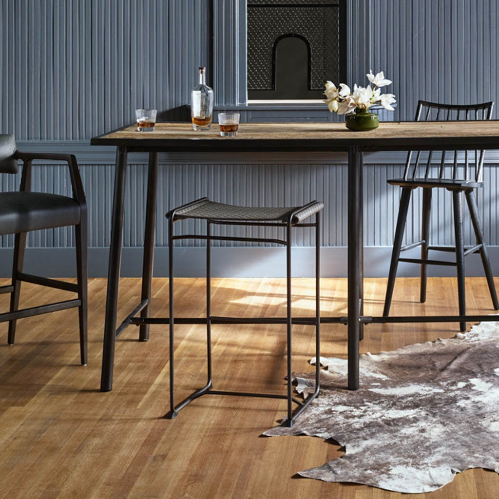 Four Hands Halifax Backless Barstool and Counter Stool