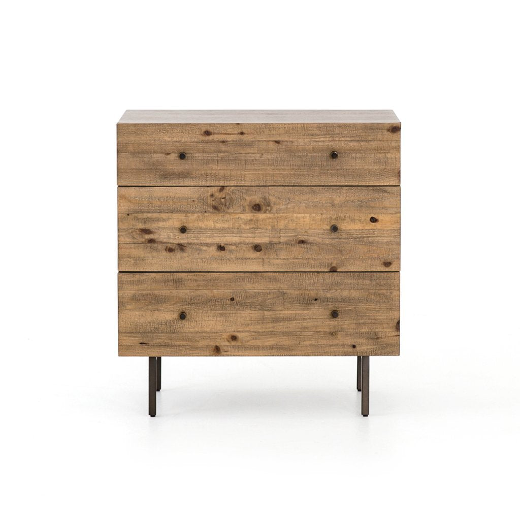 modern rustic three drawer dresser