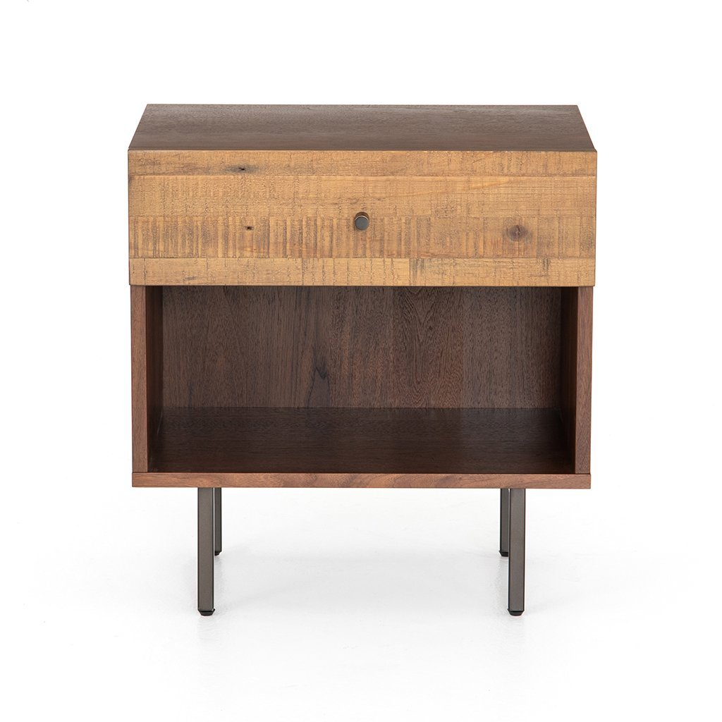 Harlan Nightstand VBAR-053 Four Hands Front Detail