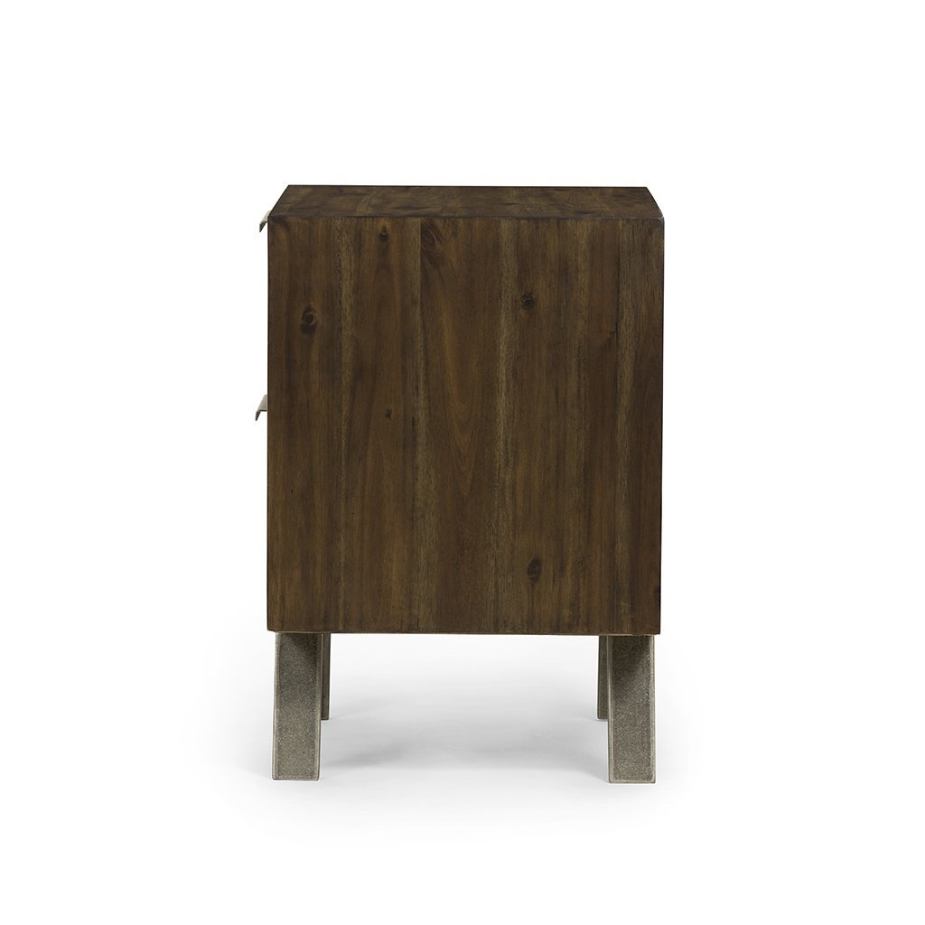 brown mid century bedside table
