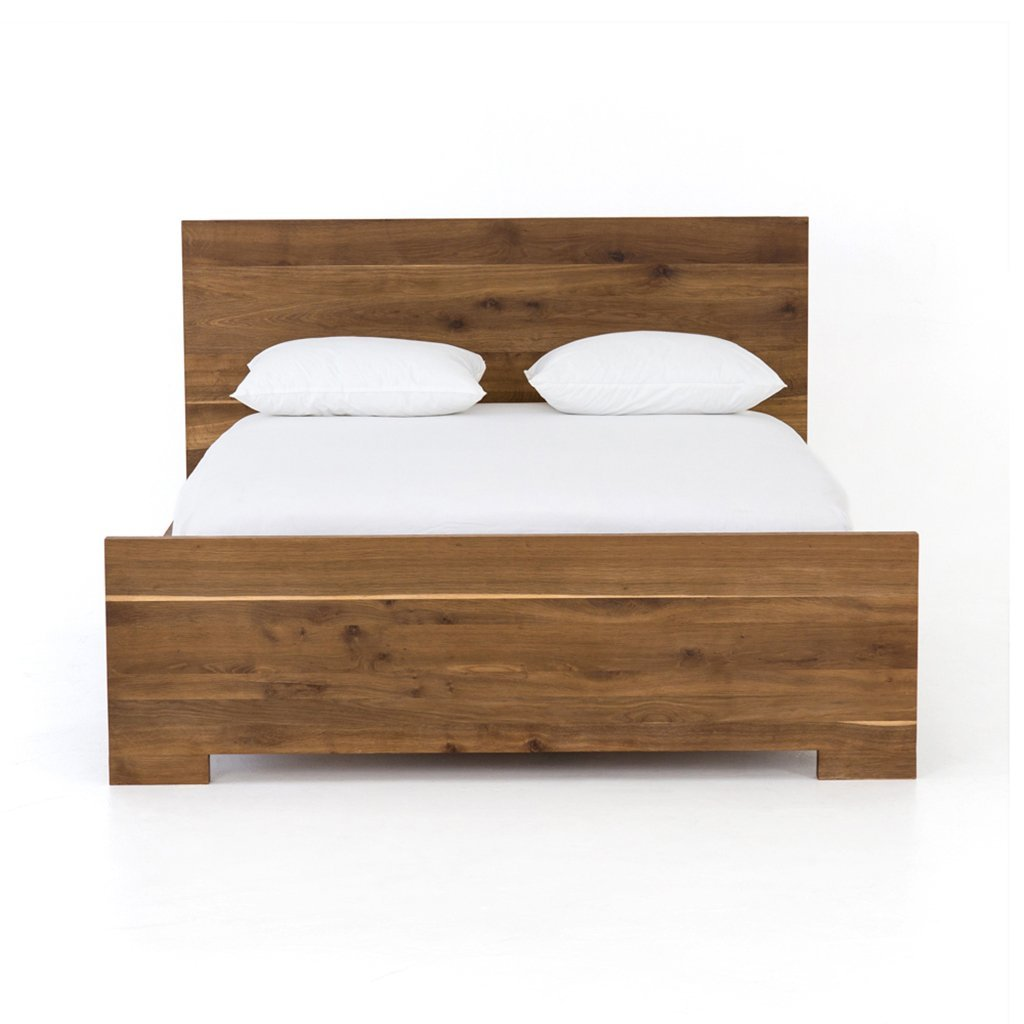 Solid Oak wood bed