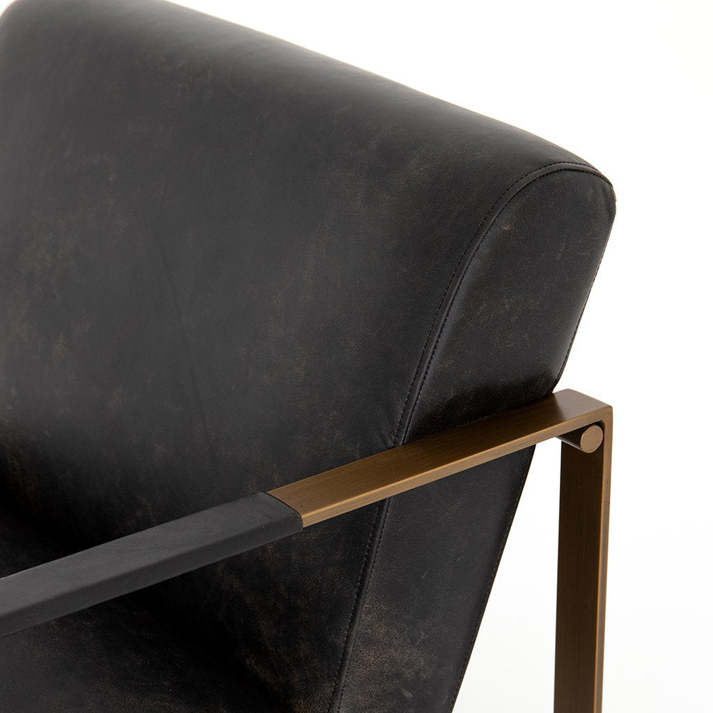 Jules Chair - Rialto Ebony CIRD-26042-482 Four Hands