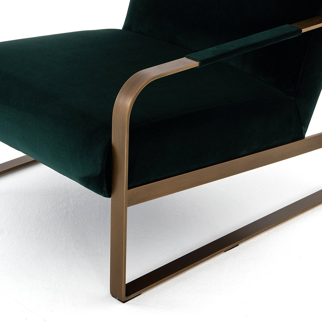 modern green living room chair