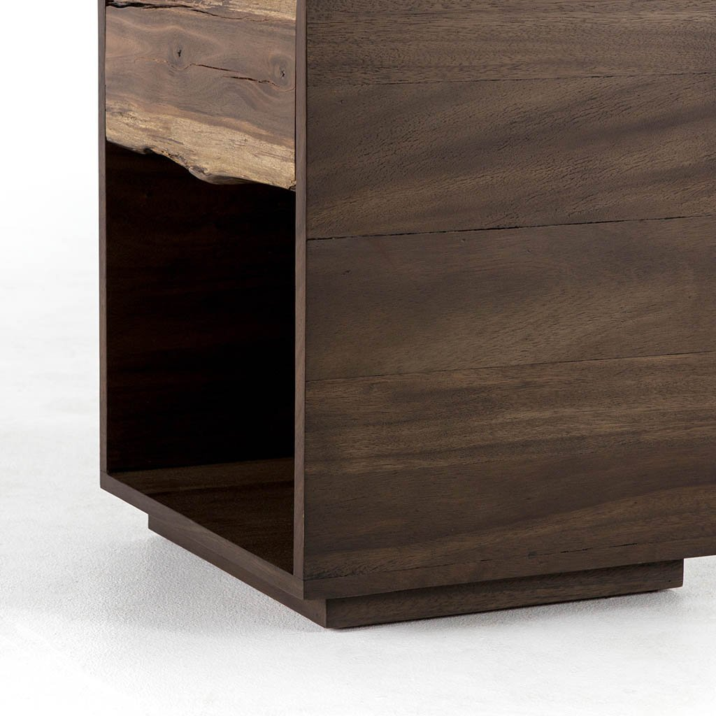 rare wood nightstand