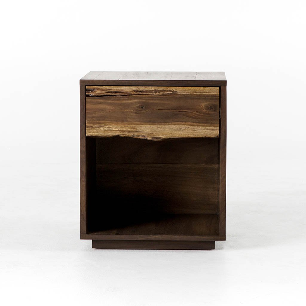 live edge nightstand artisan crafted