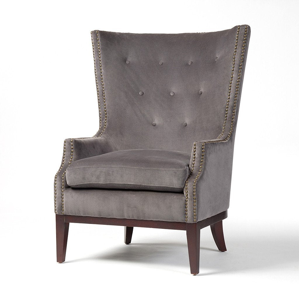 Lillian Occasional Chair - Grey Velvet Four Hands
