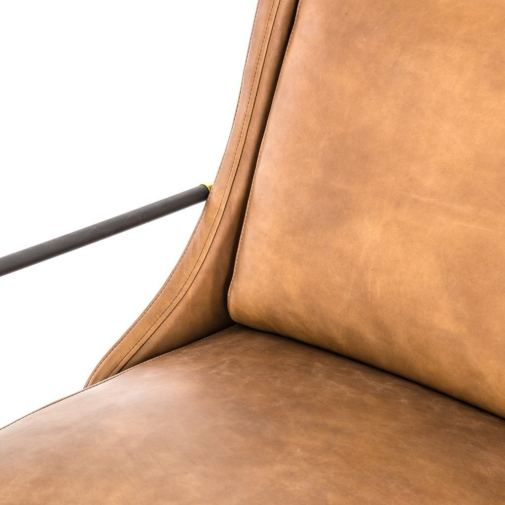 Modern leather living room chair