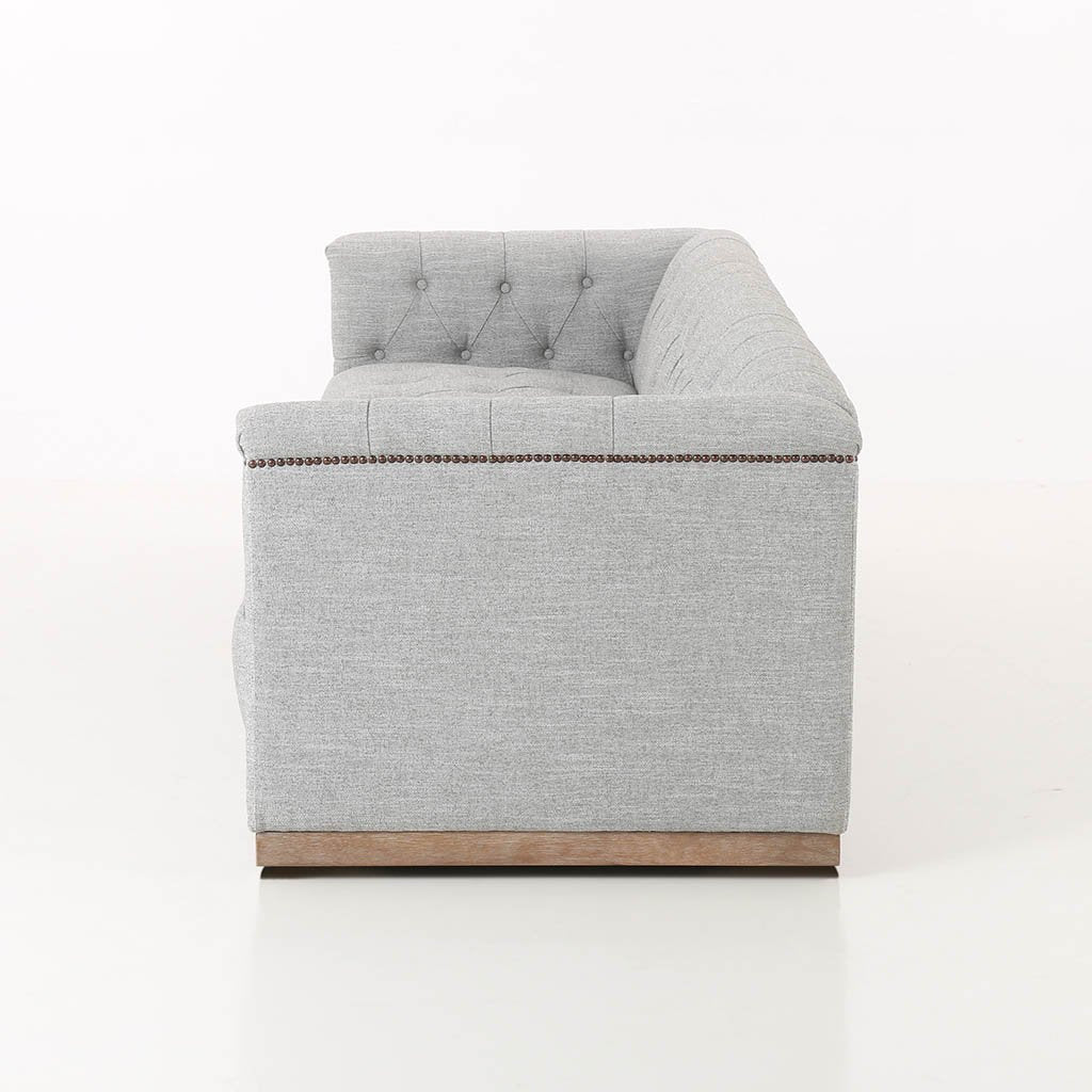 grey library style sofa