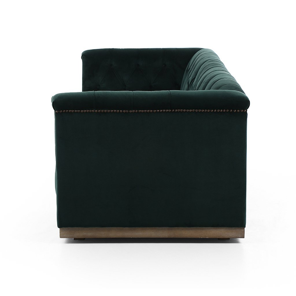 modern library sofa emerald green