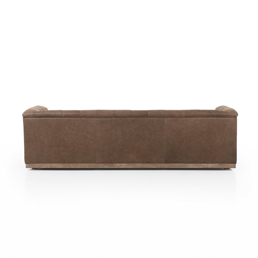 modern library style sofa leather