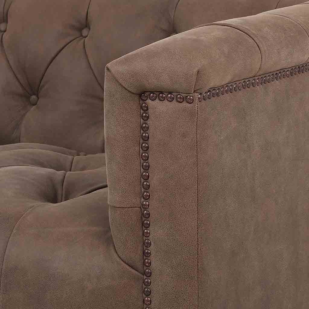 Maxx Sofa - Umber Grey Leather CKEN-K3Z53-061 Four Hands