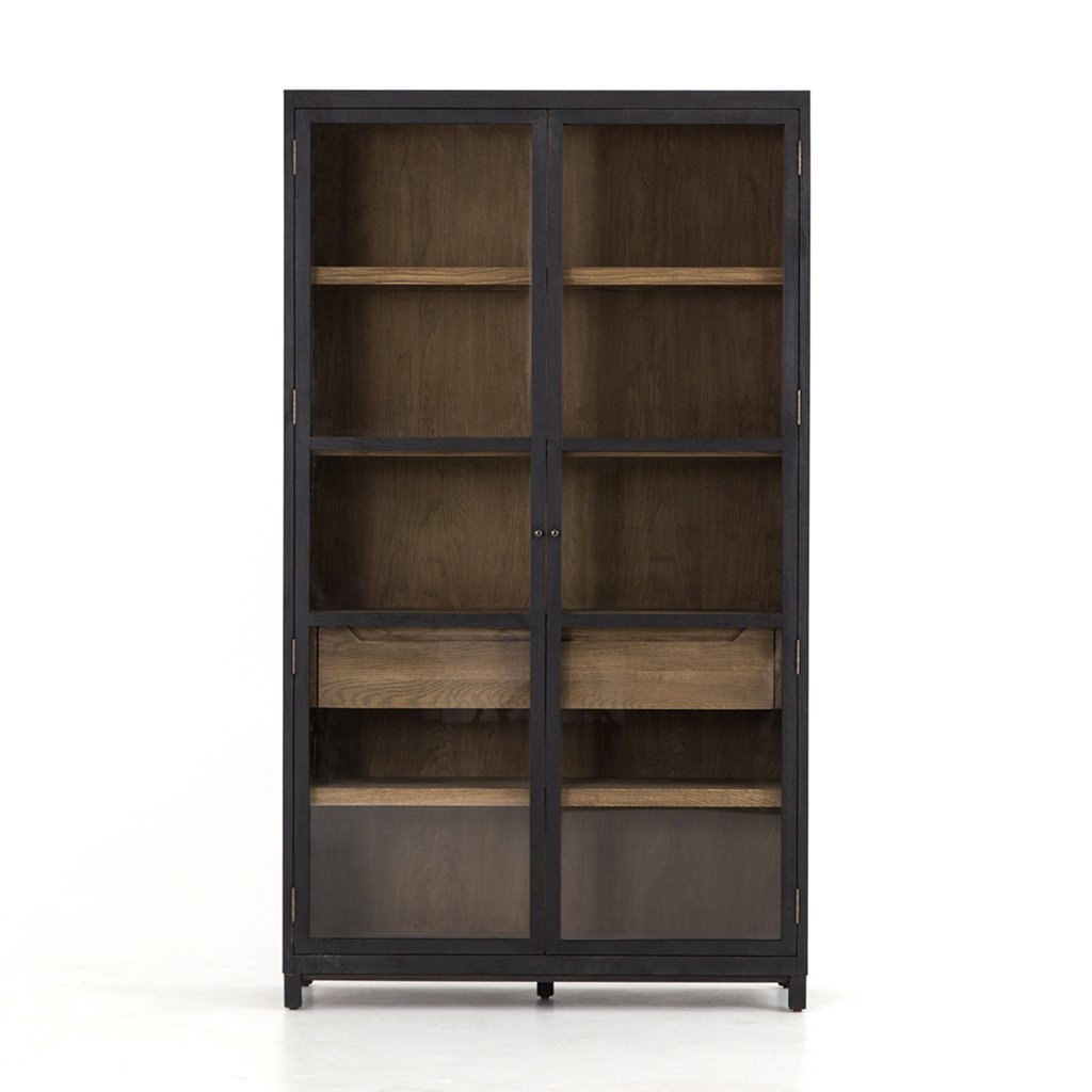 large glass door cabinet